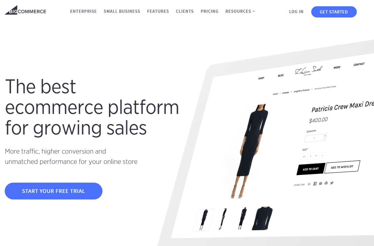 bigcommerce - web design inspiration
