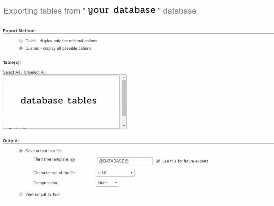 Fixing Error #1064 issues when exporting mysql database