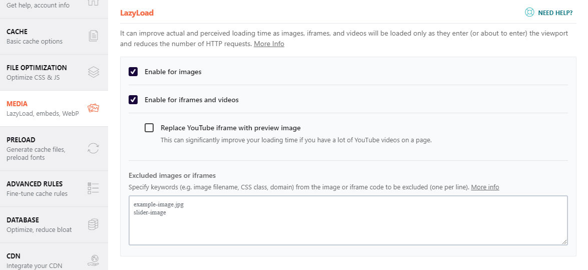 WP Rocket Settings for higher Pagespeed Insights Score